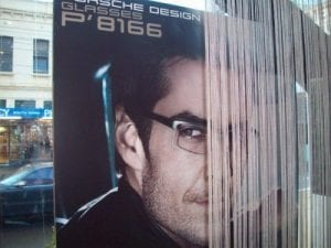 Porsche Design Visual Q Eyecare Men's Glasses Spring 2012 Melbourne Window Display